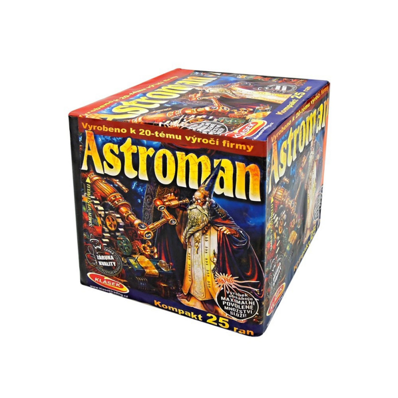 Kompaktní ohňostroj ASTROMAN 25 ran 25mm