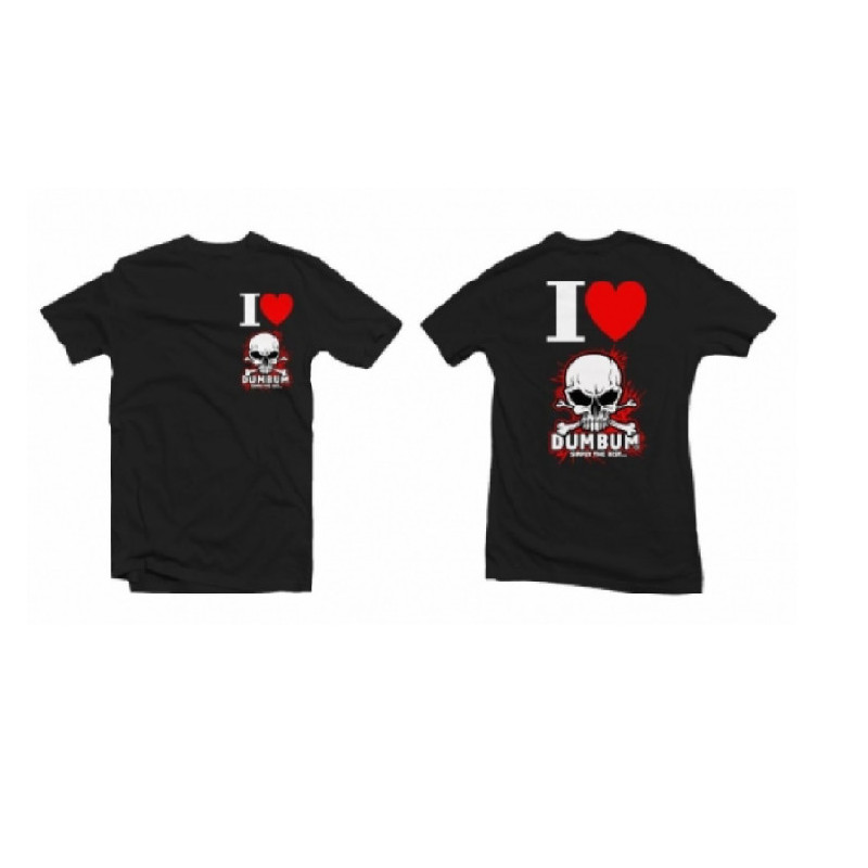 Tričko I LOVE DUMBUM, velikost L, černé