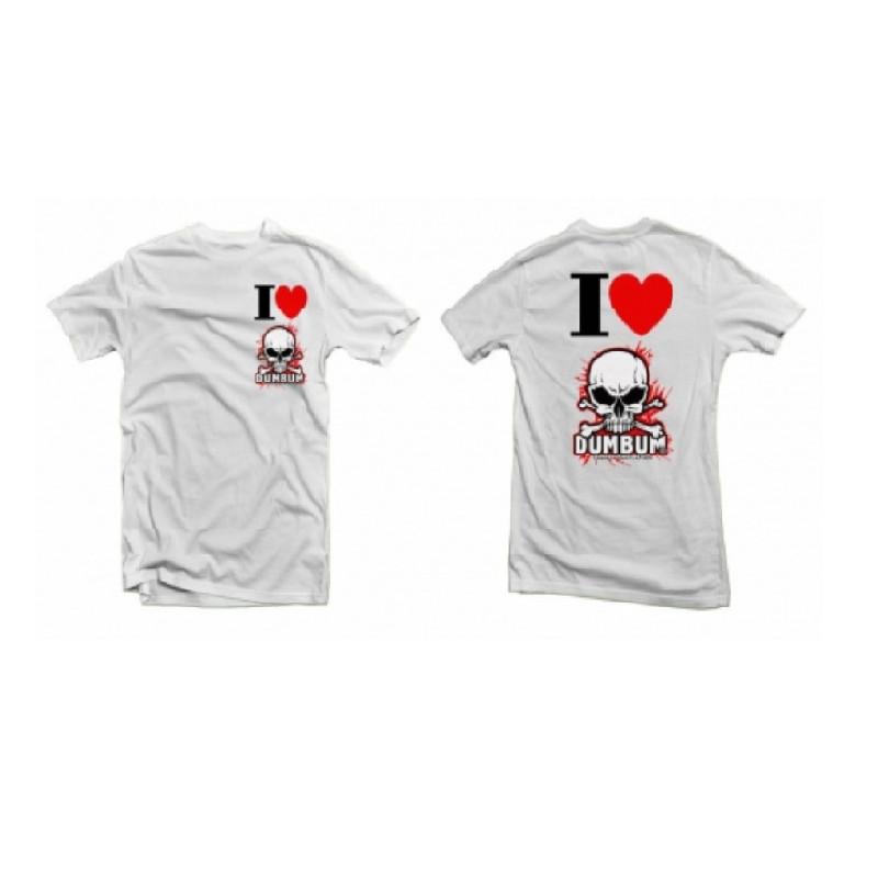 Tričko I LOVE DUMBUM, velikost L, bílé