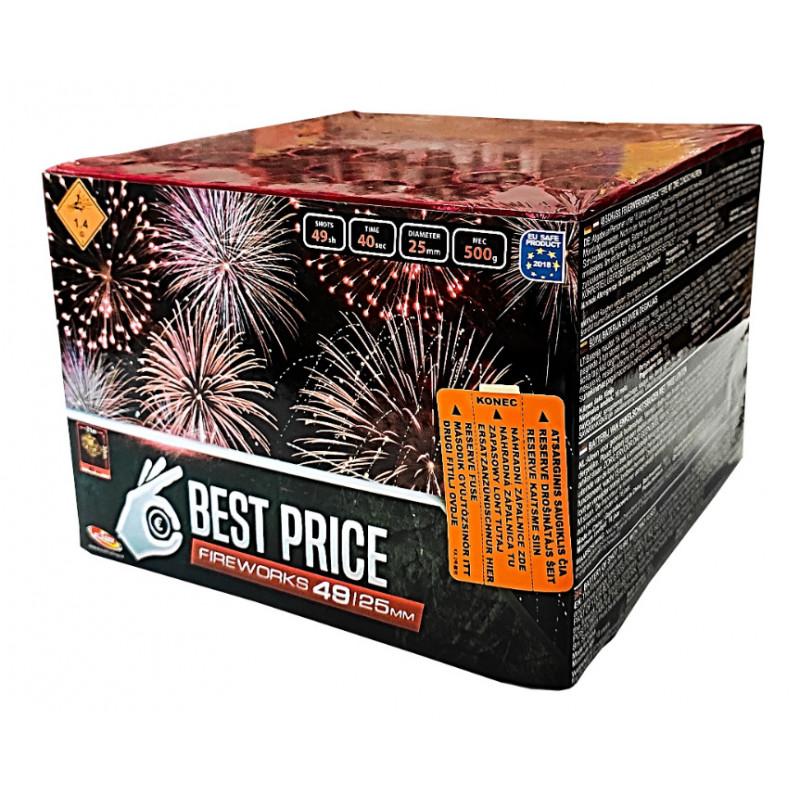 Kompaktní ohňostroj BEST PRICE 49 ran 25mm