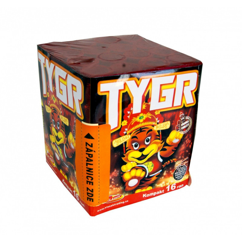 Kompaktní ohňostroj TYGR 16 ran 20mm