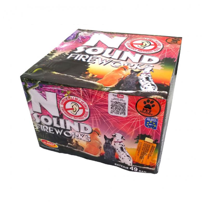 Kompaktní ohňostroj NO SOUND FIREWORKS 49 ran 25mm